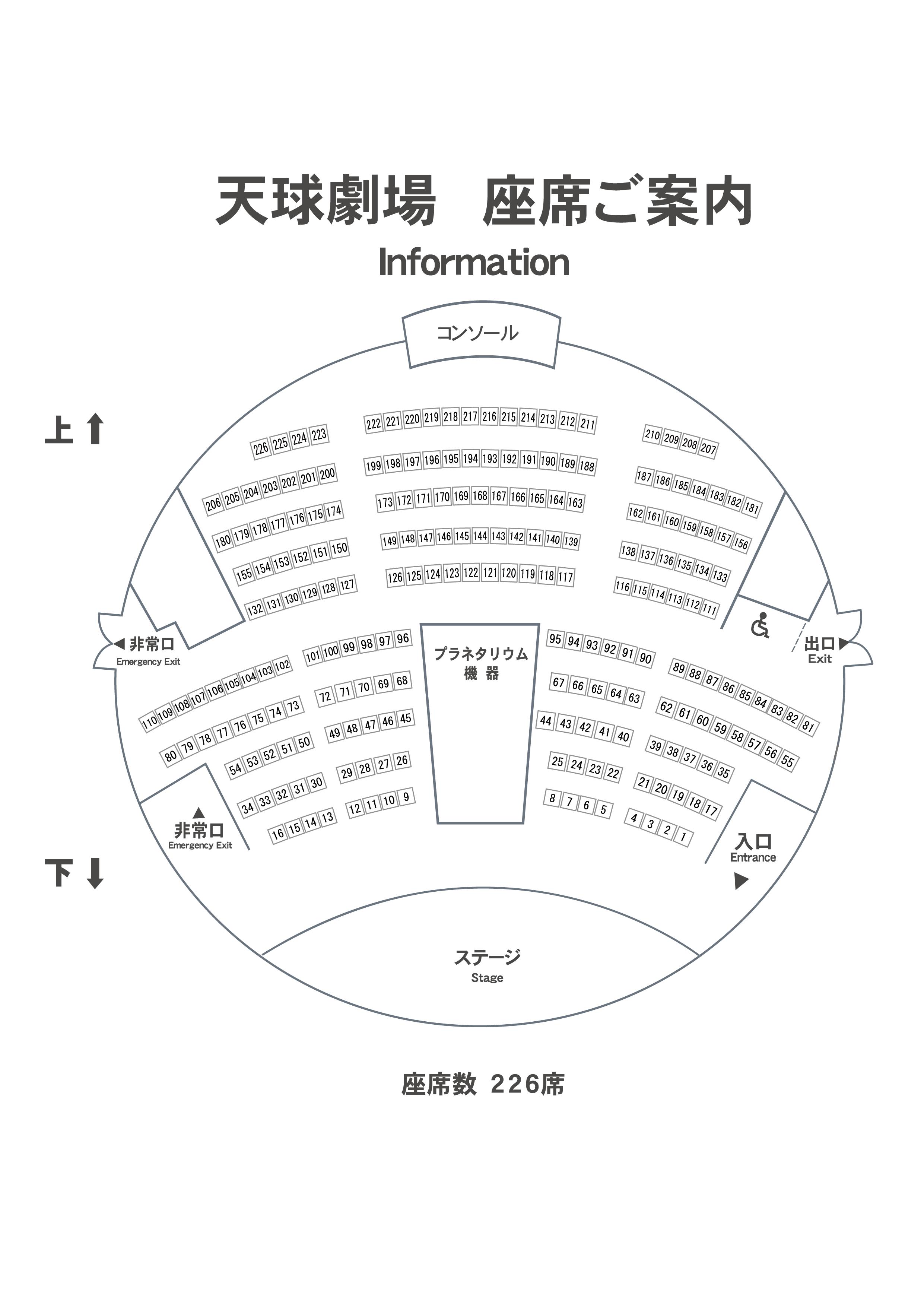 天球座席表